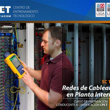SC102 – Redes en Cableado en Planta Interna con Certificación CPCT